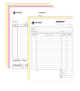 Talonario personalizado A4 (Albarán-factura)
