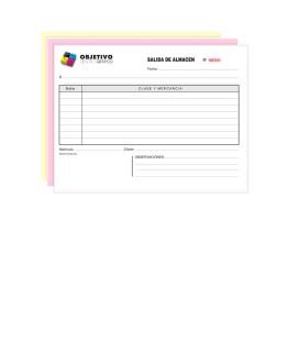 Talonario Personalizado A6 (10x15cm)