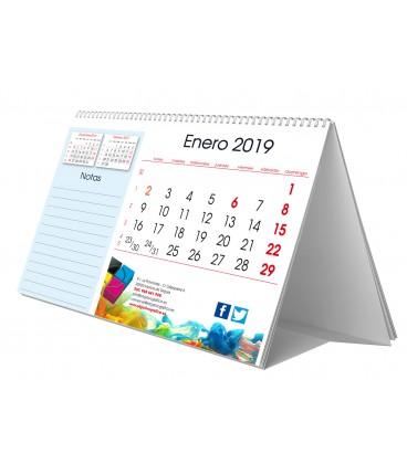 Calendario sobremesa 15x21. Notas