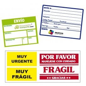 Etiquetas adhesivas papel